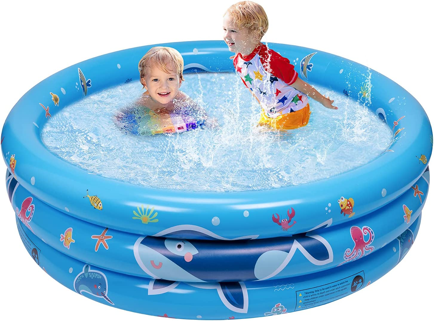 Balnore Paddling Pool 3 Ring Inflatable Paddling Pools For Kids Paddle Pool Small Swimming Pools For Gardens Outdoor Backyard 47x17x7 Inches Amazon Co Uk Toys Games