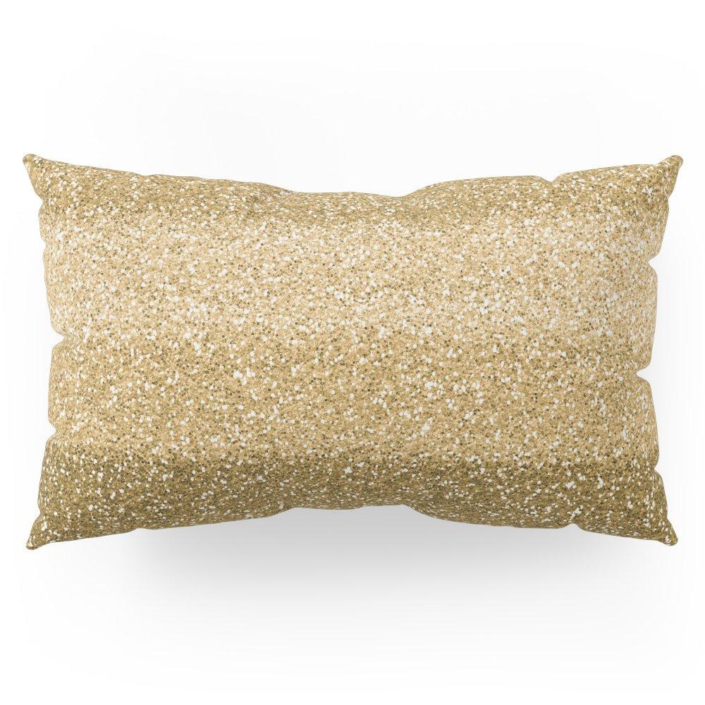 Society6 Glitter Glittery Copper Bronze Gold Pillow Sham King (20'' x 36'') Set of 2