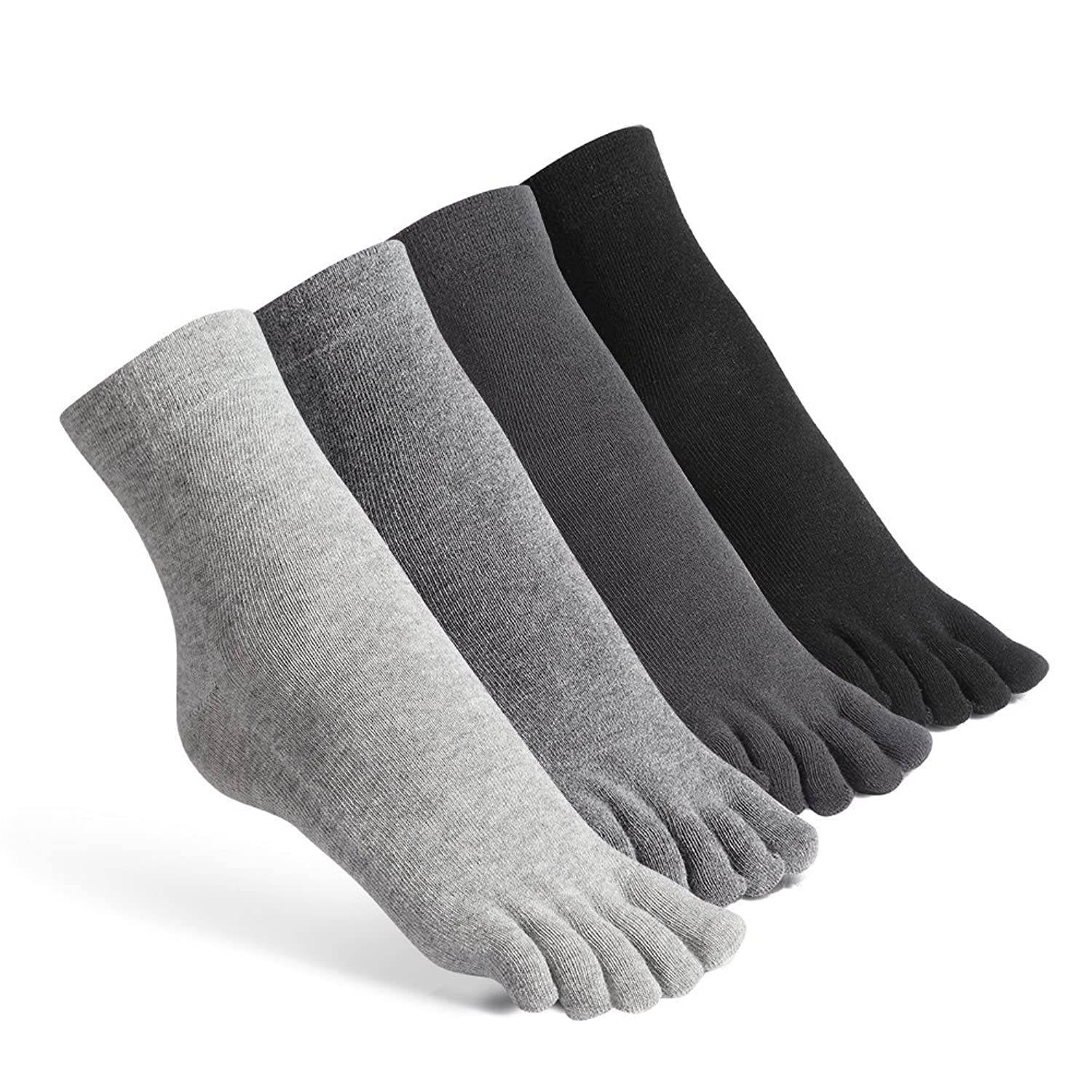 Meaiguo Toe Socks Cotton Running Five Finger Crew Socks