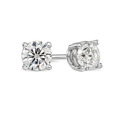 Amazon.com  IGI Certified Solitaire 14k White Gold Diamond Studs (0.78  Carat Color HI Clarity I2)  E27  Jewelry 805129cef331