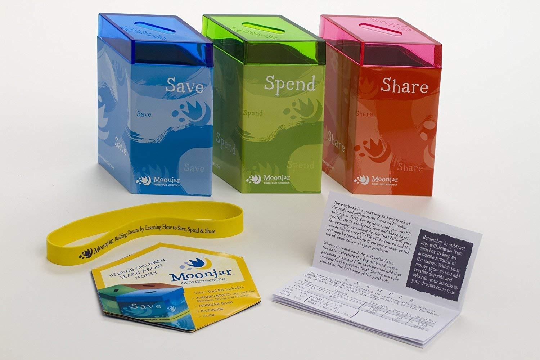 Moonjar Classic Save Spend Share Tin Moneybox by Moonjar (Image #3)