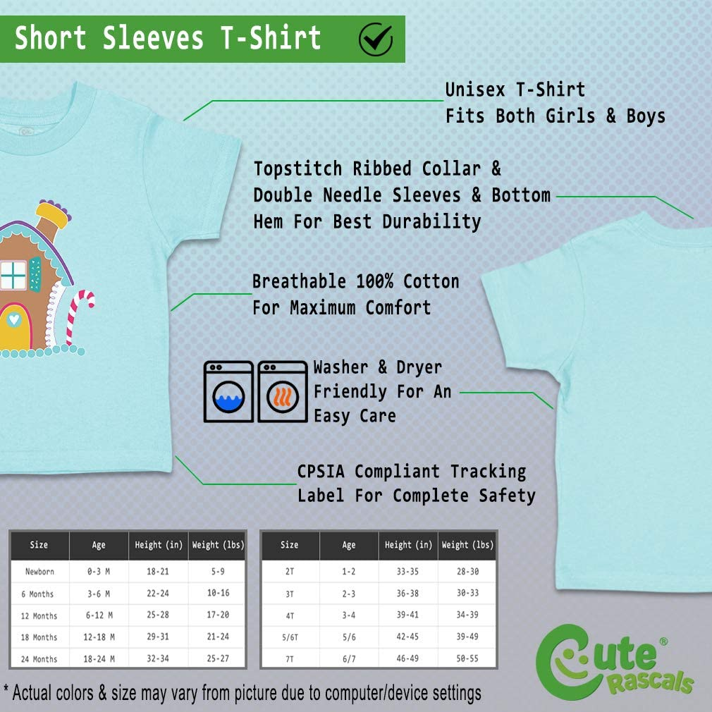 Custom Baby /& Toddler T-Shirt Gingerbread House 2 Cotton Boy Girl Clothes