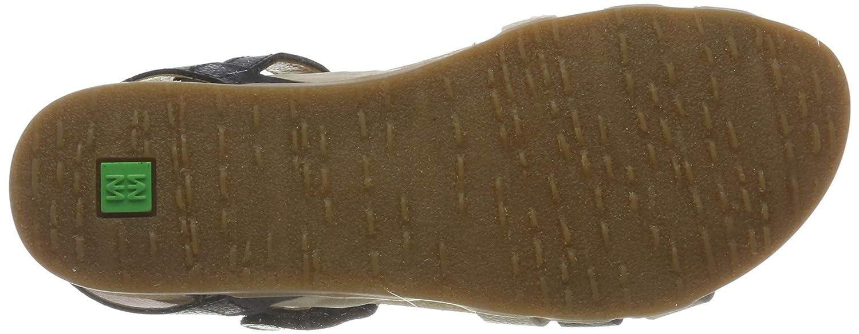 El Naturalista Damen N5244 Multi Leather Peeptoe Sandalen