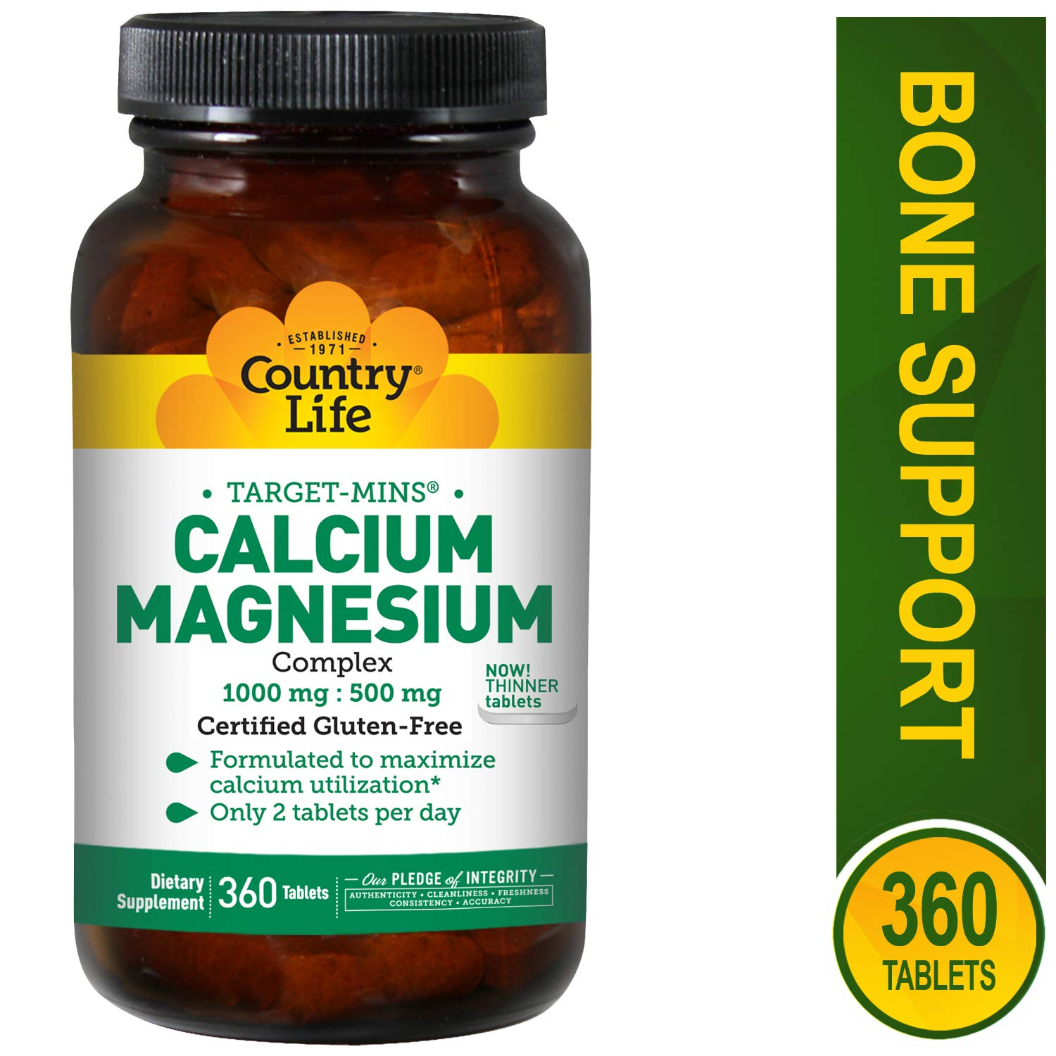 Country Life Target Mins Cal-mag Complex, 1,000 mg/500 mg Per 2 Tablets, 360-Count