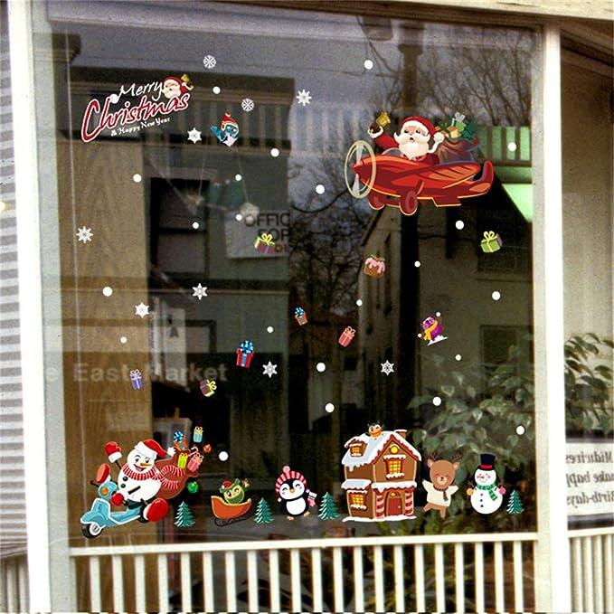 Edoton Fenster Aufkleber Für Weihnachten Vitrine Dekoration Fensterdeko Set Soc