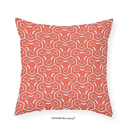 Amazon.com: VROSELV Custom Cotton Linen Pillowcase Coral Decor ...