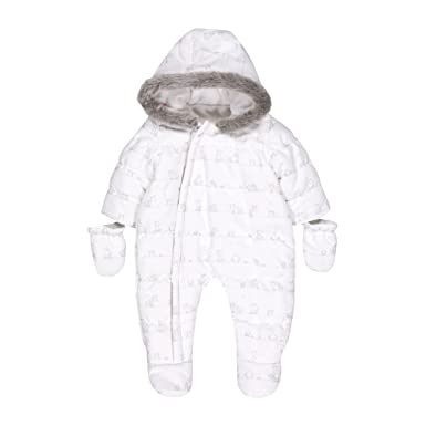 4120f29fb967 Mothercare Baby Snowsuit Fleece White