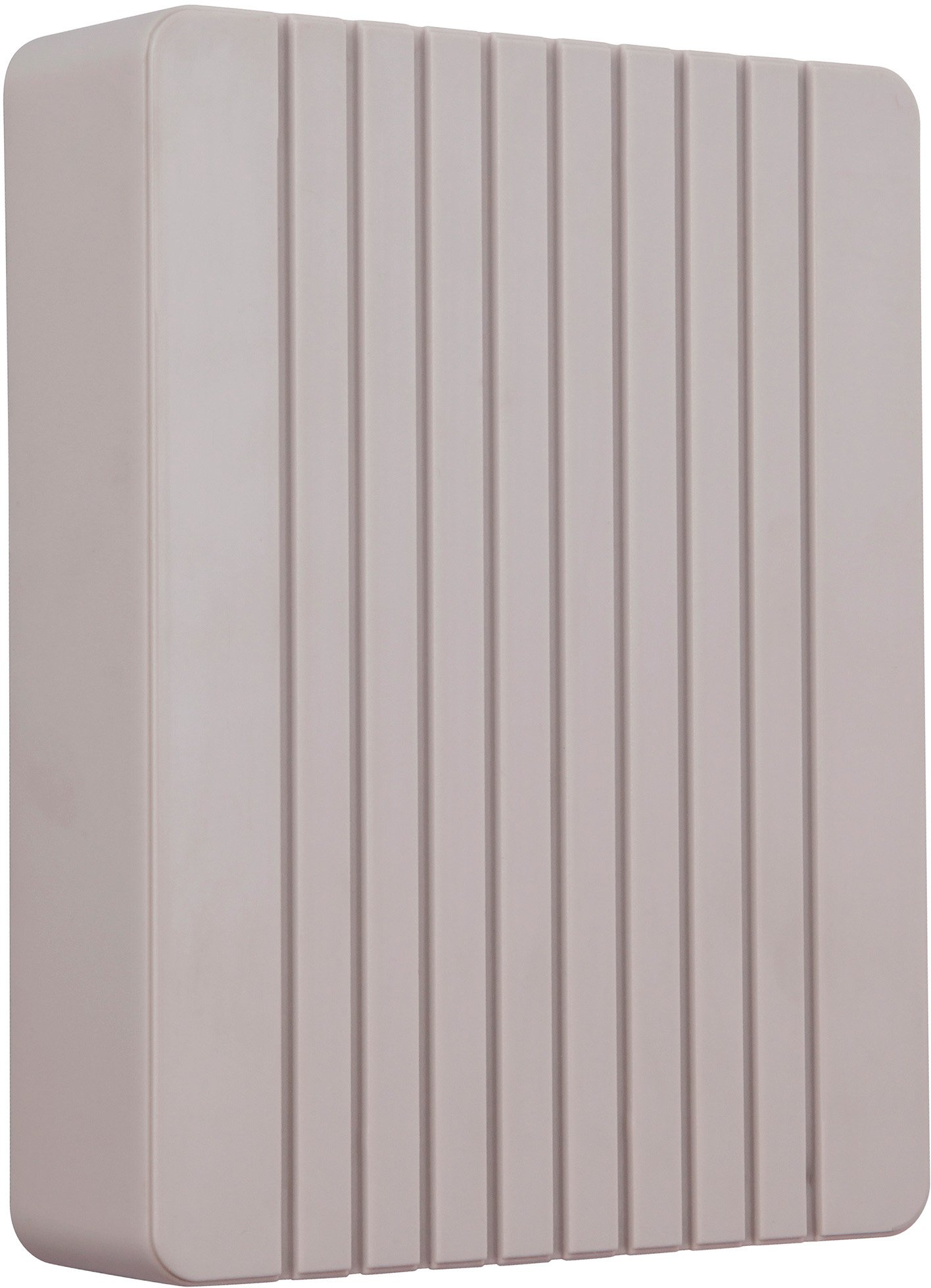 Craftmade CBB-FRG Designer Grooved Cover Door Chime, French Grey (8''H x 6.13''W)