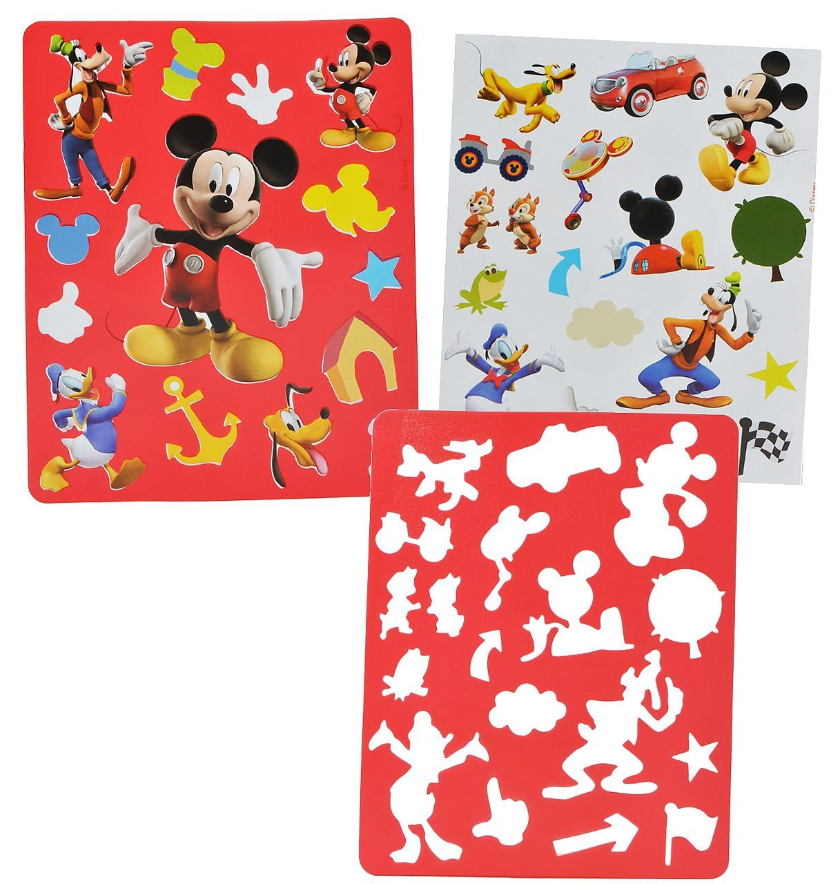Micky Und Minni Maus Ausmalbilder : 3 Set S ___ Malschablonen Vorlagen Disney Mickey Mouse