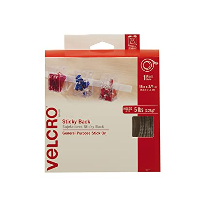 5b82e0275a8aa VELCRO Brand - Sticky Back Hook and Loop Fasteners | Perfect for Home or  Office | 15ft x 3/4in Tape | White