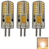 3x G4LED Blanc Chaud 3W Intensité variable 12V AC/DC (Lot de 3) Changement de tension avec 48x 3014(Epistar) ~ 15W 330° broches...