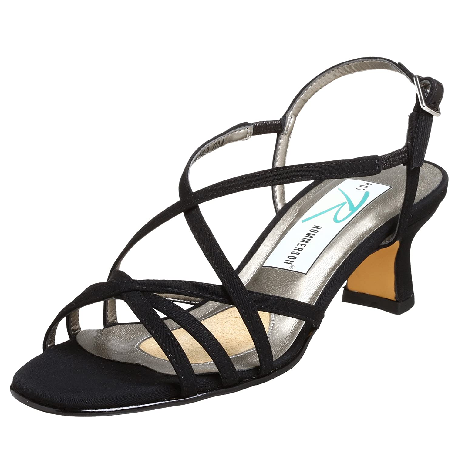 amazoncom ros hommerson womenu0027s lite strappy dress shoe fabric heeled sandals