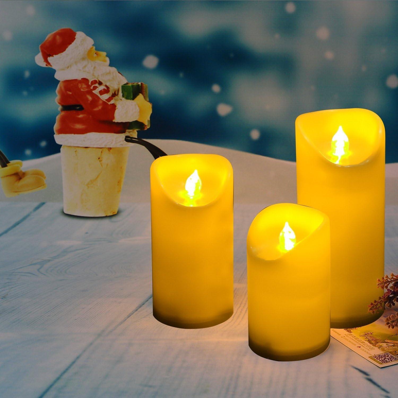 Electric Flameless LED Pillar Candles