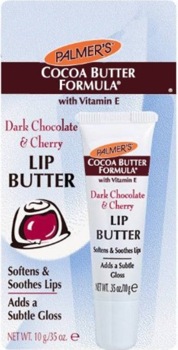Palmer's Cocoa Butter Formula Dark Chocolate & Cherry Lip Butter.35 oz (Pack of 4)