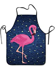 The Cute Beautiful Pink Flamingo BBQ Kitchen Cooking Apron