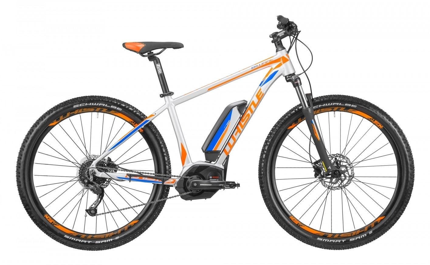 Mountain Bike eléctrica EMTB con pedalada assistita Whistle B-Ware CX 500, 9 velocidades, color gris Ultralight - Naranja, tamaño M (170 - 185 cm): ...
