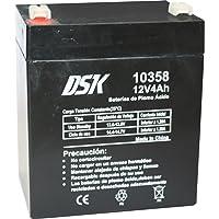 DSK 10358 - Batería Recargable de Plomo Ácido de 12 V y 4 Ah Ideal para Juguetes Eléctricos para Niños como Motos y…