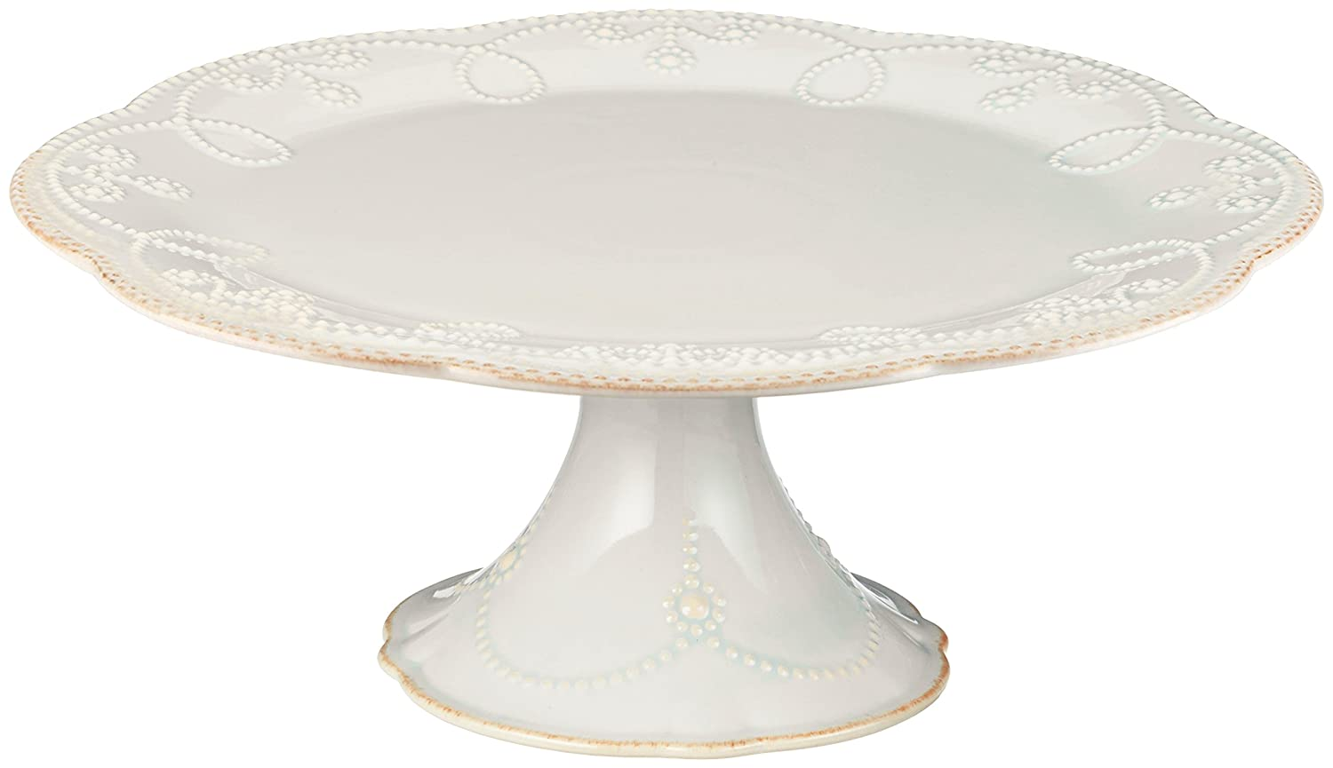 Lenox French Perle Pedestal Cake Plate, Medium, White 824745