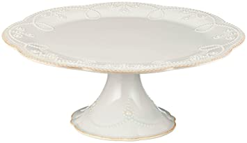 Amazon.com | Lenox French Perle Pedestal Cake Plate Medium White Serveware  sc 1 st  Amazon.com & Amazon.com | Lenox French Perle Pedestal Cake Plate Medium White ...