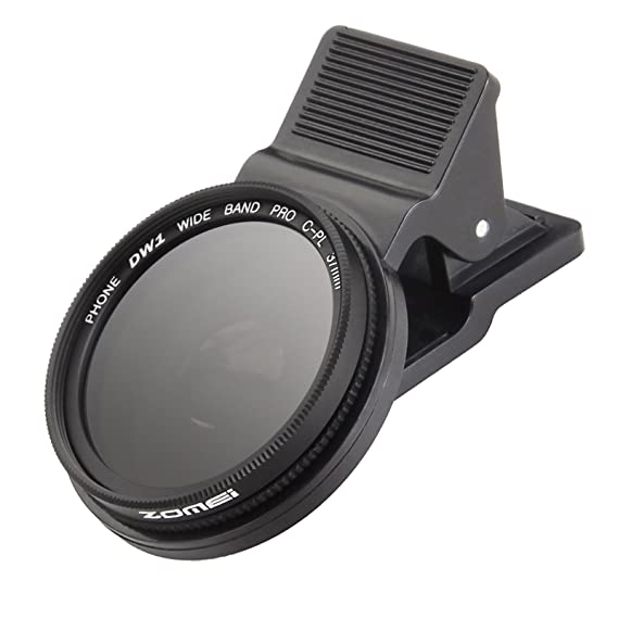 newest collection 7767f 14796 Zomei 37mm Professional Cell Phone Camera CPL Lens Filter with Clip for  iPhone 6 6S Plus Samsung Galaxy S8 Android Smartphones