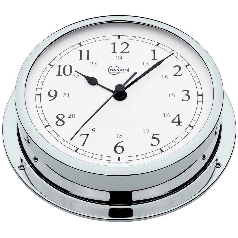 BARIGO Viking Series Quartz Ship's Clock - Chrome Housing - 5 Dial by Barigo 611CRAR