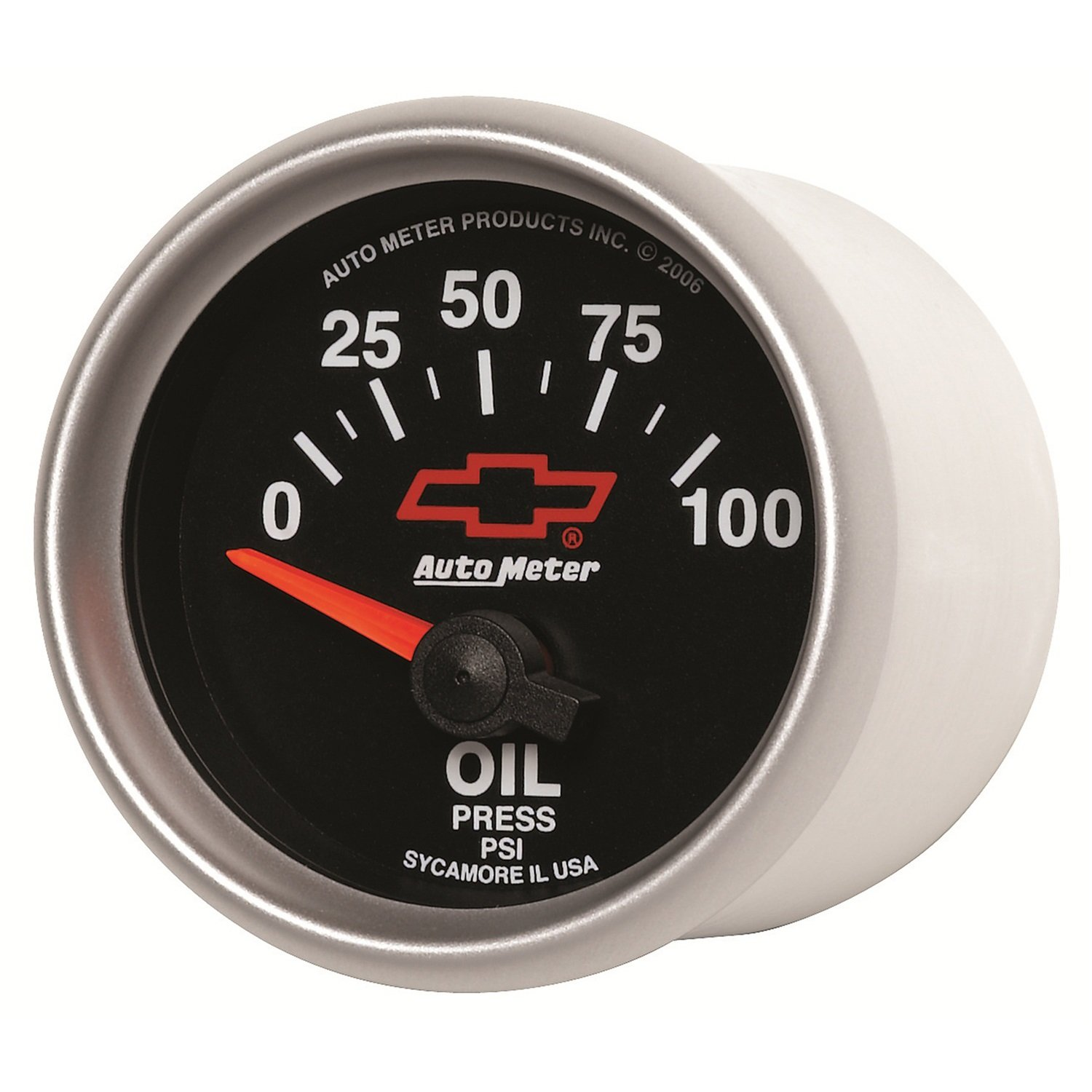 Auto Meter 3627-00406 GM Performance Parts Red 2-1//16 0-100 PSI Short Sweep Electric Oil Pressure Gauge