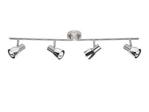2 opinioni per Brilliant 39532/77 Lava- Lampada da soffitto a 4 faretti orientabili da 7 W,