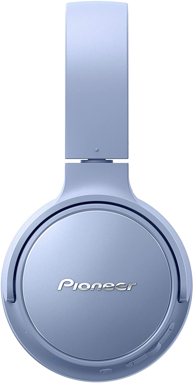 Pioneer S3 Wireless On-Ear Bluetooth 5.0 hoofdtelefoon (opvouwbaar, 25 uur accu, snellaadfunctie, handsfree, volumeregeling), blauw blauw