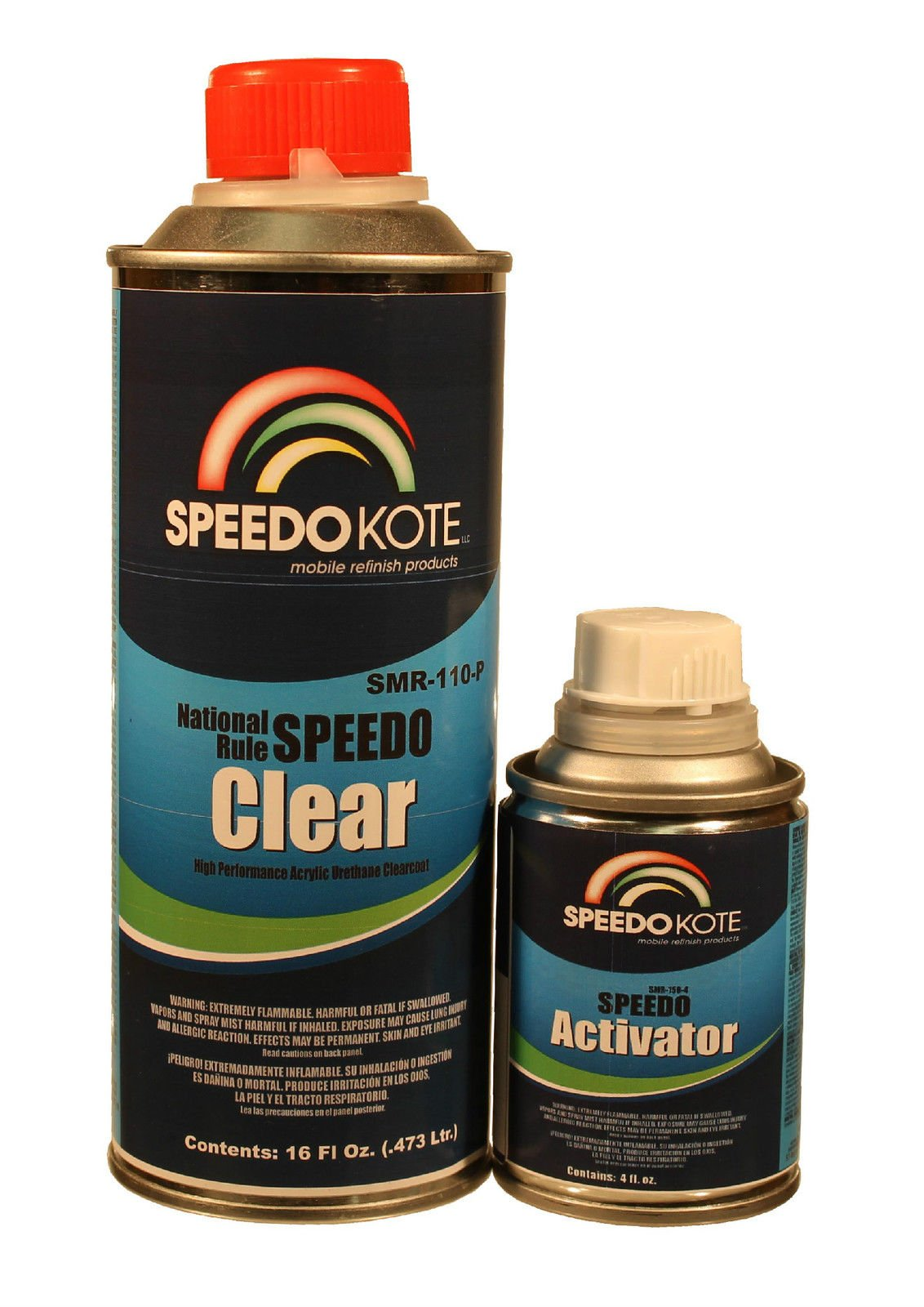 Extremely Fast Dry Clear Coat, 4:1 Spot Clearcoat med Pint Kit, SMR-110-P/150-4