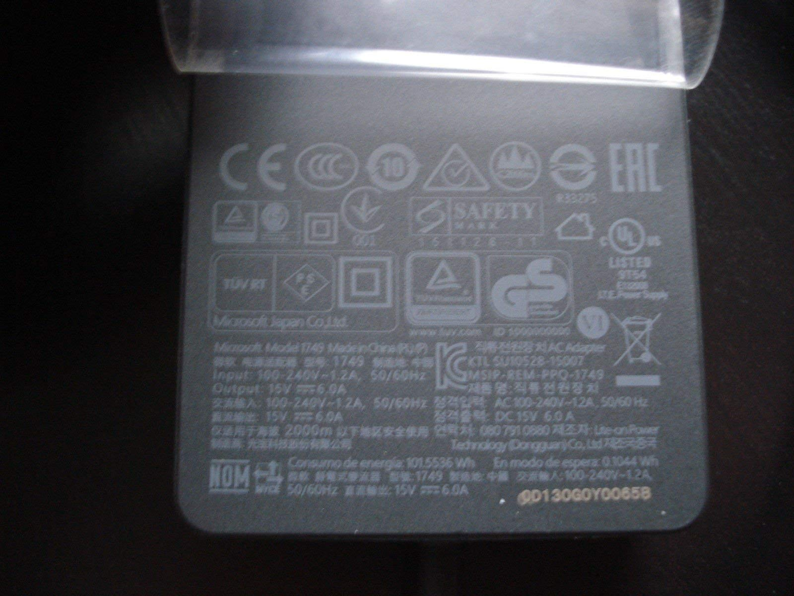 Microsoft Surface Dock Power Supply AC Adapter 90W 15V (Non-Retail Packaging) (Renewed)