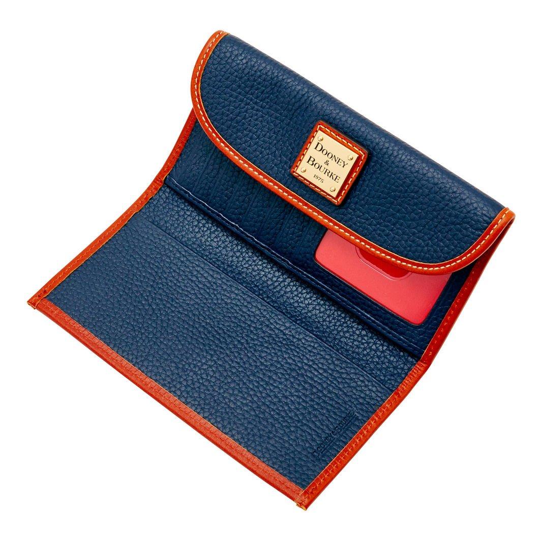 Dooney & Bourke Pebble Leather Continental Clutch Wallet Midnight Blue