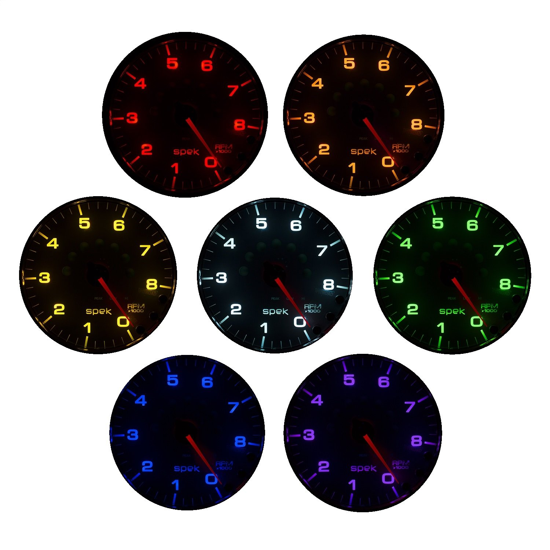 Auto Meter P344218 Gauge, Voltmeter, 2 1/16'', 16V, Stepper Motor W/Peak & Warn, Slvr/Chrm, Spek-Pro