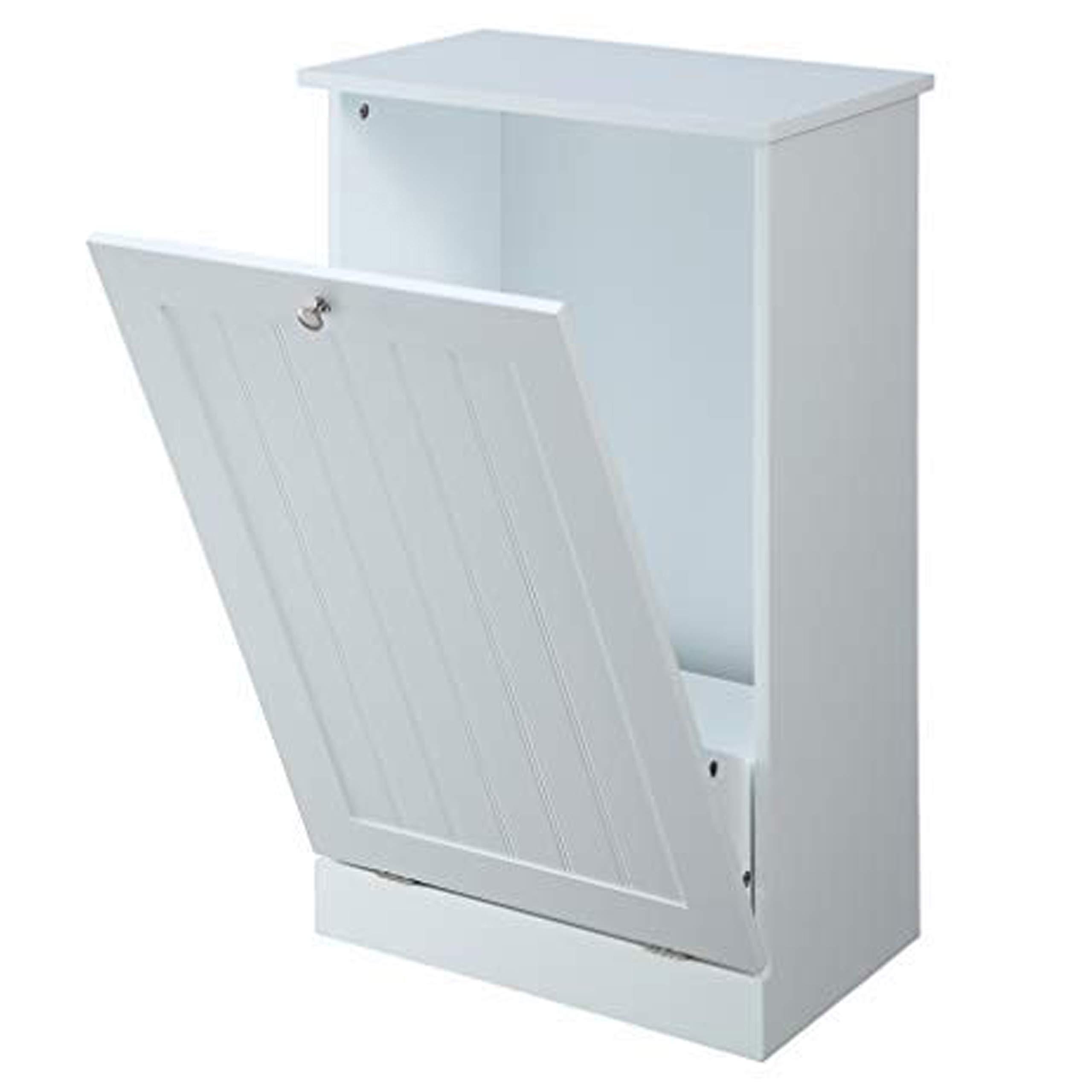 Tilt Out Trash Cabinet by Seven Oaks (White)