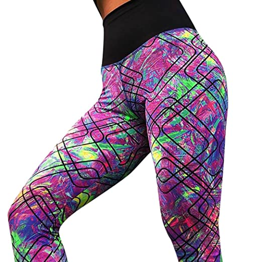 6a9846fca23354 Longay Women Colorful Workout Leggings Push up Compression Yoga Pants (S)