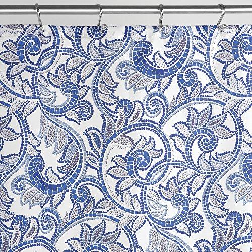 mDesign Mosaic Paisley Fabric Curtain