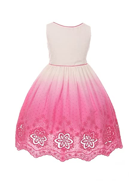 d8af10f82225 Kids Dream Little Girls Fuchsia Ombre Floral Cut Out Flower Girl ...