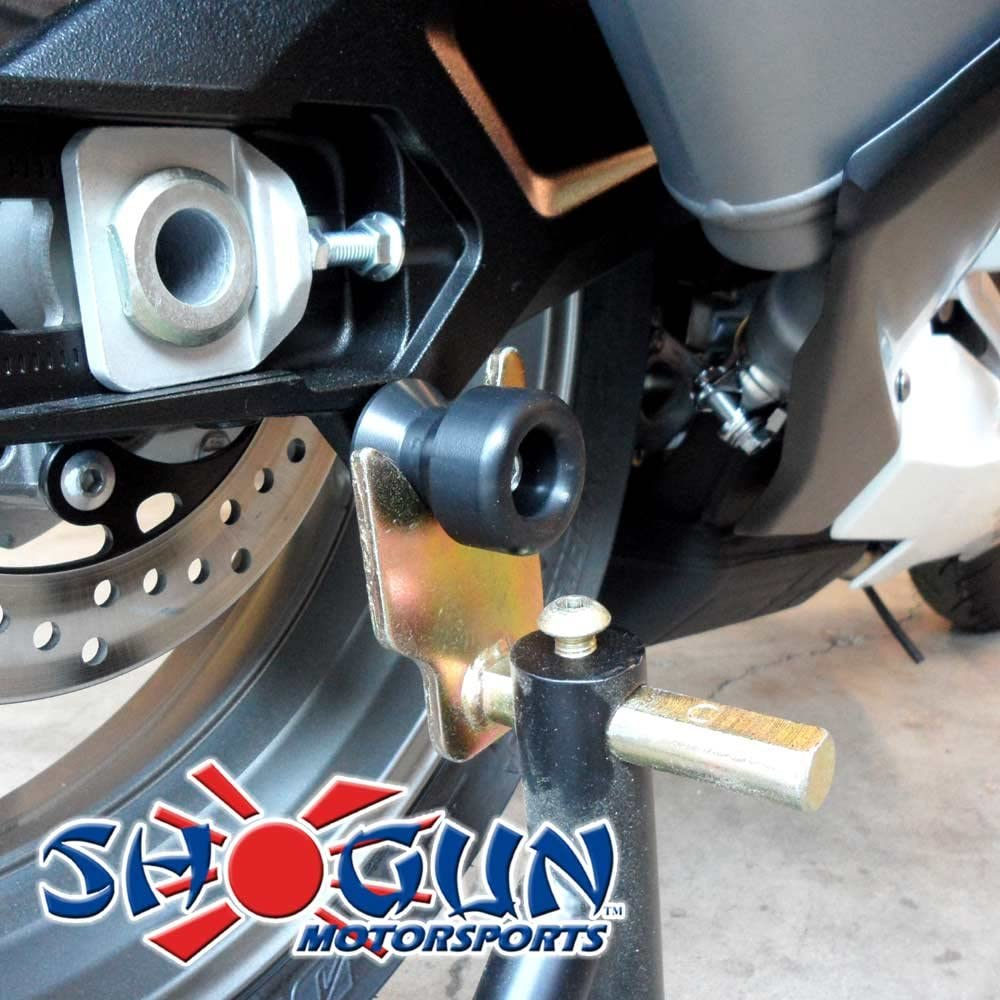 Shogun 701-0309 Honda Suzuki Swingarm Spools For Use of Most 8mm Swing Arm Spool Mounts Check Product Discription for Fitment MADE IN THE USA Black