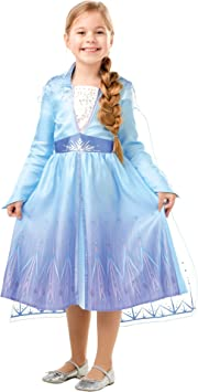 Oferta amazon: Disney, Elsa Travel Frozen2 Classic - Disfraz de Elsa Travel, Multicolor, S (3-4 años)
