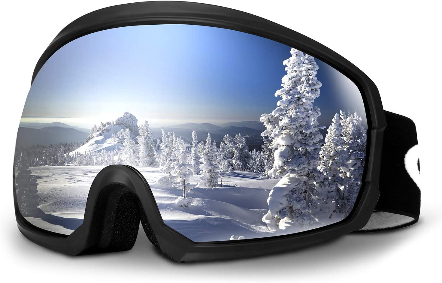 Moongo Tool Ski Goggles, Snowboard Snow Goggles for Men Women Youth Unisex Winter Glasses OTG Design Anti-Fog 100 UV400 Protection Compatible for Ski Helmet, Outdoor Gear