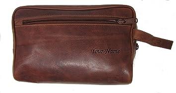 Brown Leather wash Bag 8dbaeda4b3fbe