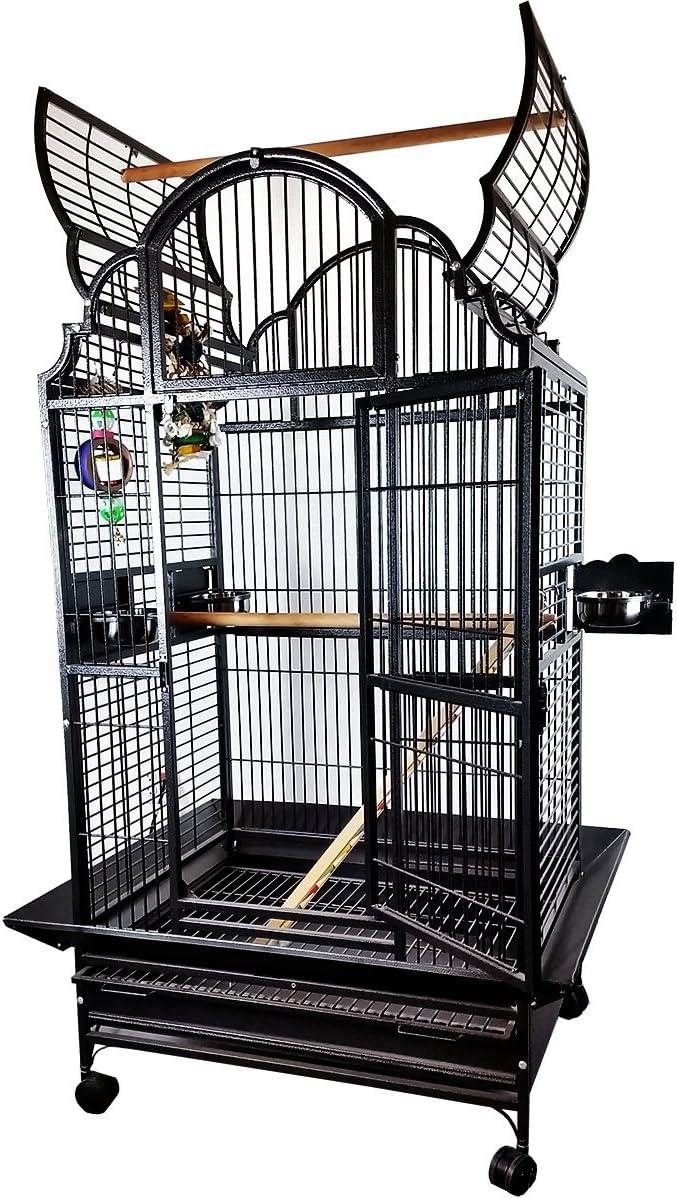 Medium Victorian Top Bird Cage Color Black
