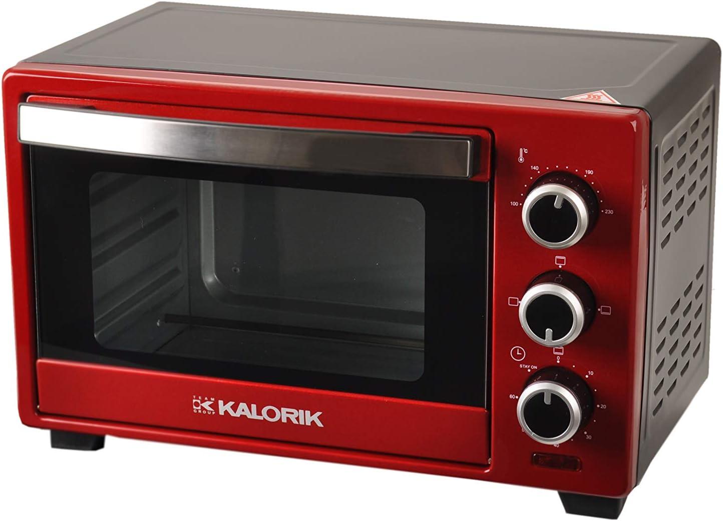 rot 1280 W 16 L Ober-// Unterhitze Team Kalorik Backofen TKG OT 2003 RD
