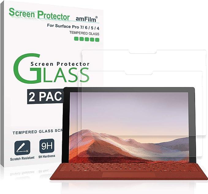 amFilm (2 Piezas) Protector de Pantalla para Surface Pro 7 ...