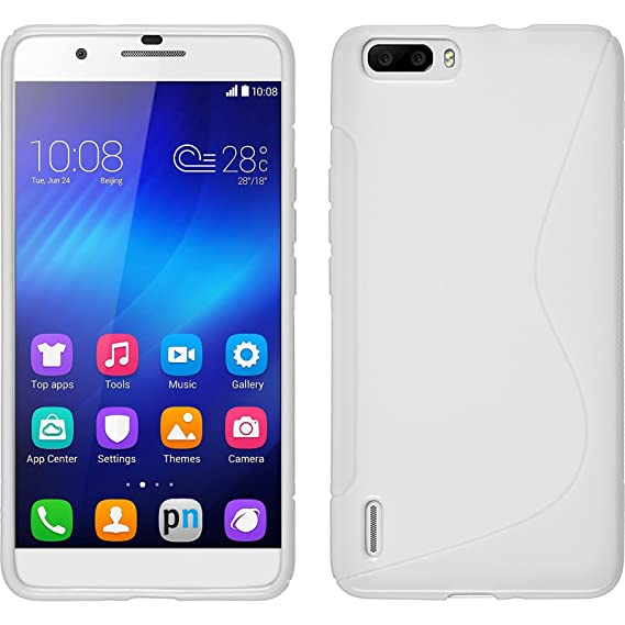 sale retailer 3eef7 a907c Amazon.com: Silicone Case for Huawei Honor 6 Plus - S-Style white ...
