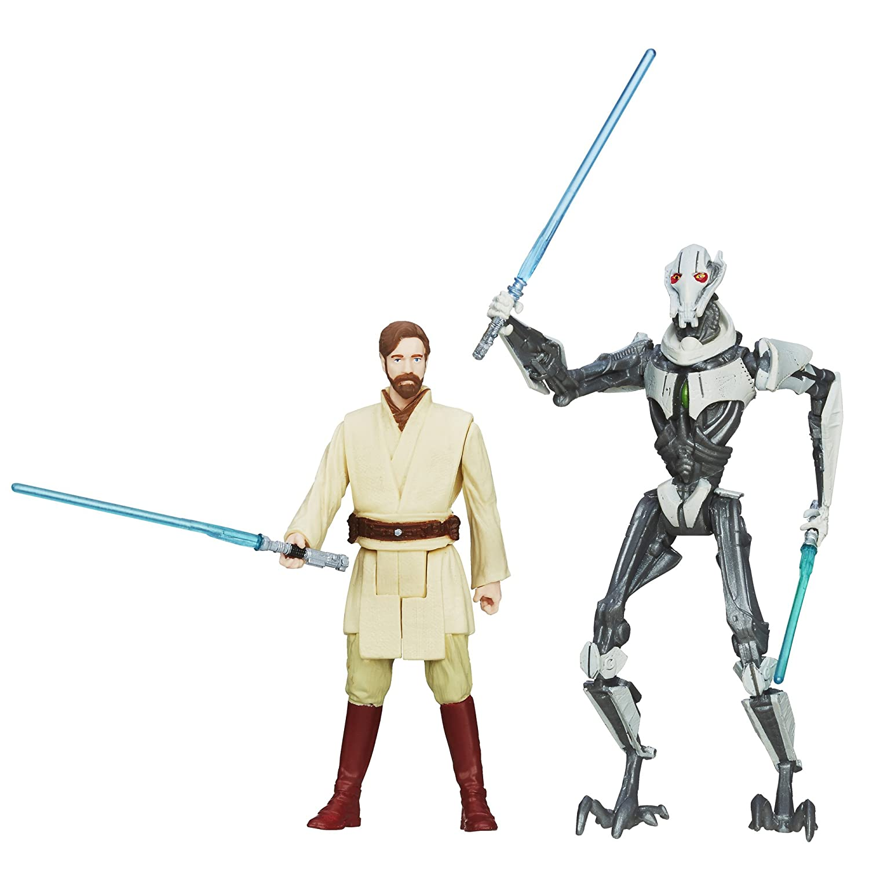 Star Wars, Mission Series Utapau Pack [Obi-Wan Kenobi and General Grievous], 9,5 cm