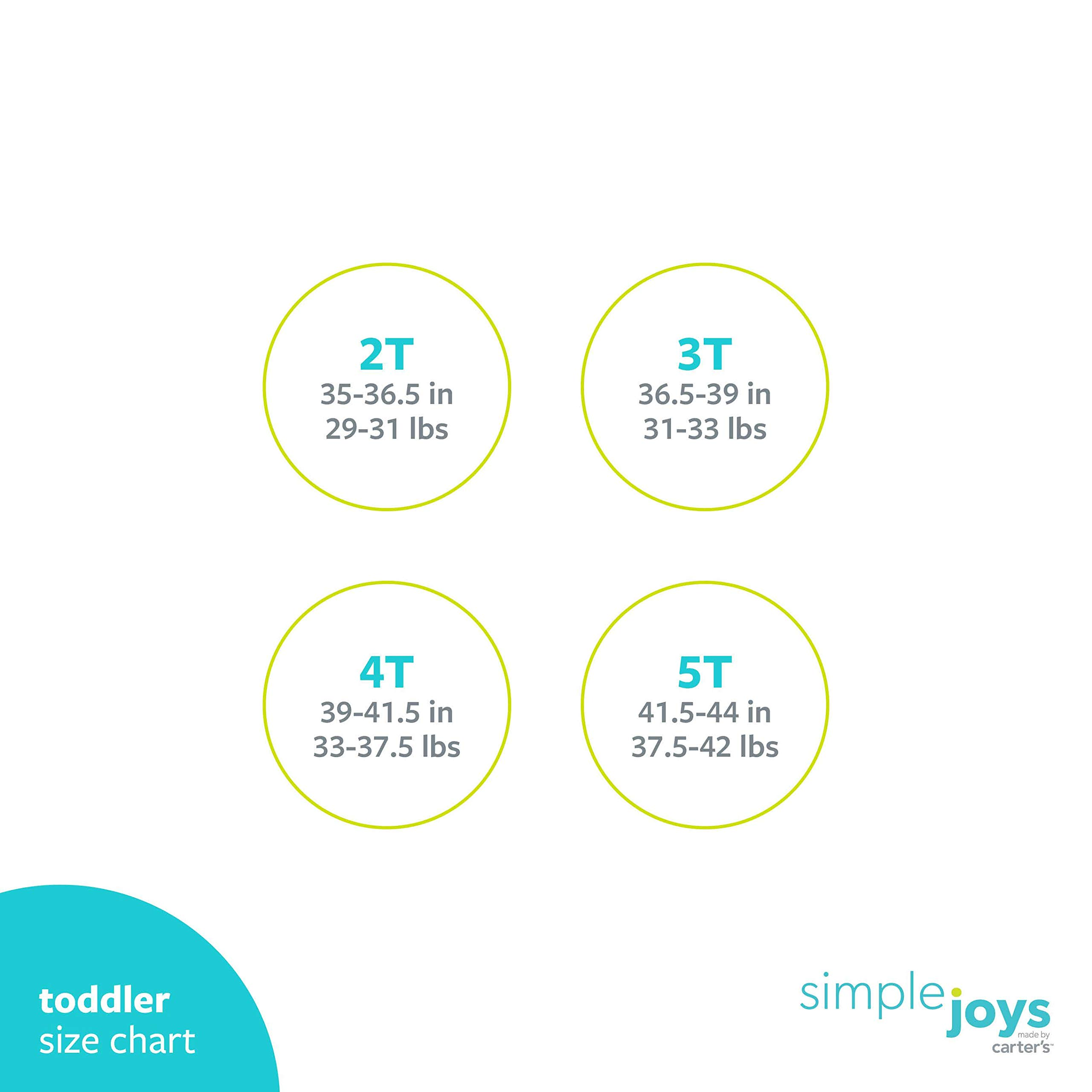 Simple Joys by Carter's Toddler Girls' 4-Piece Short-Sleeve Dress, Top, and Pants Playwear Set