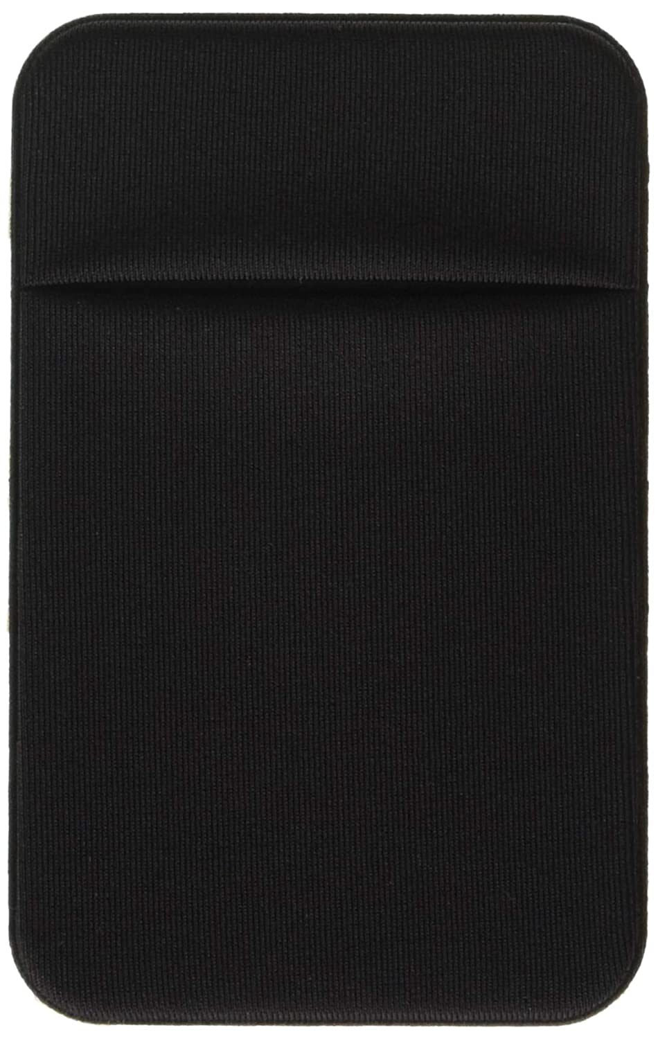 CaseArtPlus rrx-61 Credit Card Secure Holder Stick on Wallet (Lid) Discreet ID Holder Lycra Spandex Card Sleeves for Smartphones, iPhone 6, Samsung Galaxy Cell Phone Wallet Case 3M Adhesive - Black