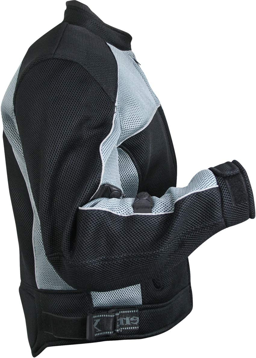 Xelement CF511 Mens Black Mesh Sports Jacket with X-Armor Protection 3X-Large