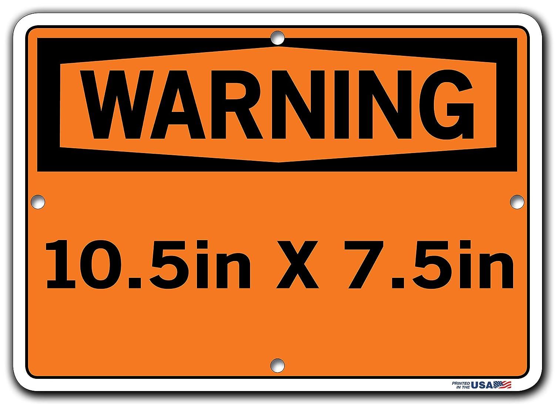 Vestil SI-W-29-D-AL-080-S SECURITY ALARM WILL SOUND IF DOOR IS OPENED//LA ALARMA DE SEGURIDAD SONAR/Á SI SE ABRE LA PUERTA Warning Sign 18.5 W x 12.5 H Aluminum 0.080 Overall Size