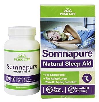 Peak Life - Somnapure Natural Sleep Aid Bonus Pack - 60 Tablets (Pack of 3